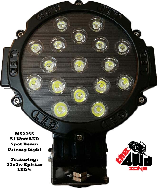 51w Epistar LED Driving Light- PAIR