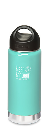 Klean Kanteen 16oz (473ml) Wide Mouth Insulated Bottle- Glacial Glass Colour