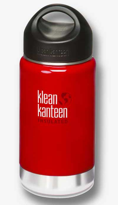 Klean Kanteen 12oz (355ml) Wide Mouth Insulated Bottle- Sangria Red Colour