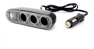 12V Extension Lead with Triple Outlets & Twin USB Ports
