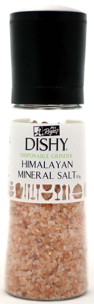 Dishy 355g Himalayan Mineral Salt Disposable Grinder