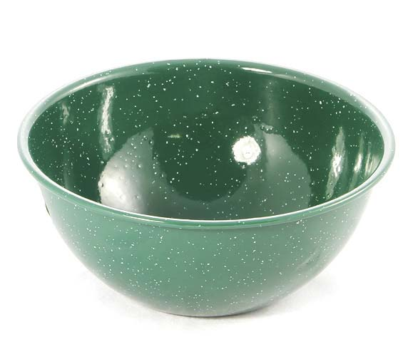 Enamel Deep Cereal Bowl- Green