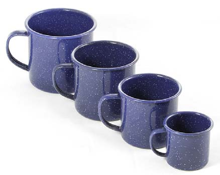 500ml Enamel Mug- Blue