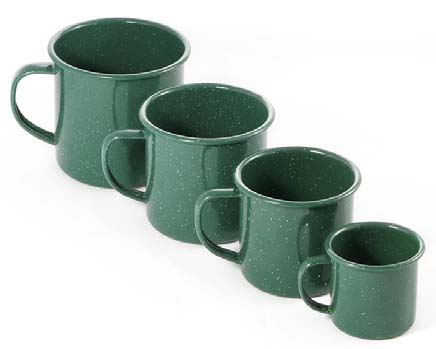 500ml Enamel Mug- Green