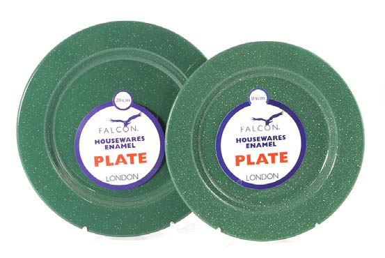 26cm Enamel Dinner Plate- Green