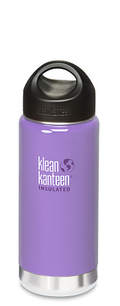 Klean Kanteen 16oz (473ml) Wide Mouth Insulated Bottle- Lavender Tea Colour