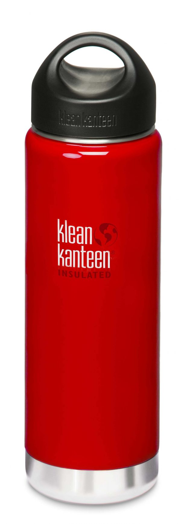 Klean Kanteen 20oz (592ml) Wide Mouth Insulated Bottle- Sangria Red Colour
