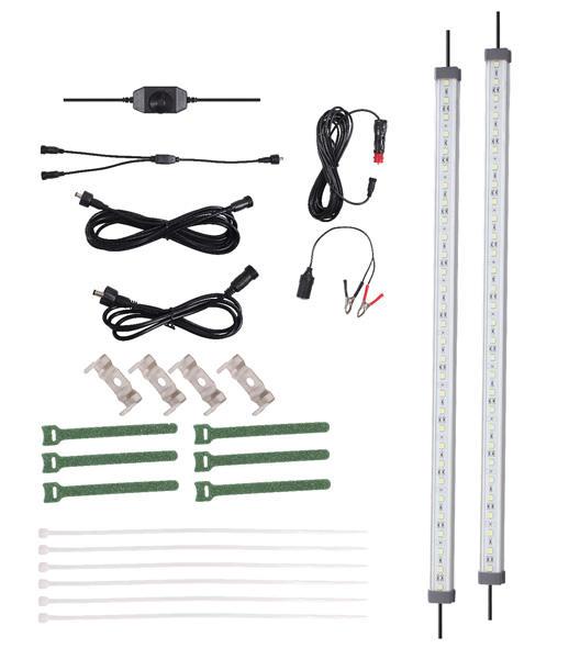 12v 2x Bar LED Strip Light Kit