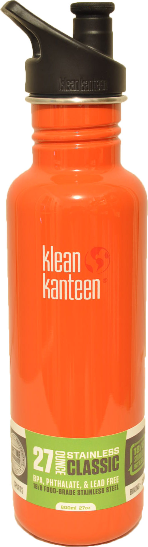 27oz Classic w/sports cap- Flame Orange