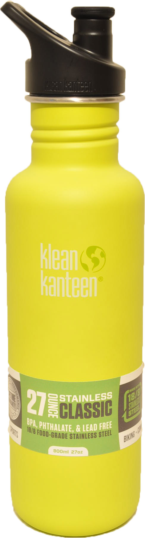 27oz Classic w/sports cap- Lime Pop