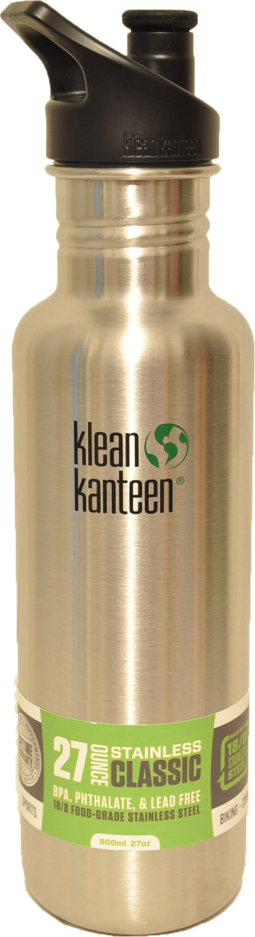 27oz Classic w/sports cap- Stainless