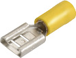 Female Blade Terminal - Yellow - 5.0-6.0mm wire, 9.5mm tab size