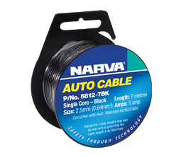 Single Core Automotive Cable - 3mm x 7m - Black
